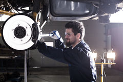 Car mechanic at work Stock Photos