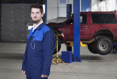 Car mechanic at work Royalty Free Stock Photography