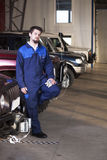 Car mechanic at work Royalty Free Stock Images