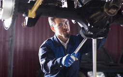 Car mechanic at work Stock Photography