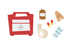Car medical kit vector illustration. Stock Photos
