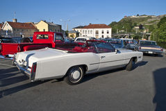 Am car meeting (1976 Cadillac Eldorado Convertibl Royalty Free Stock Images
