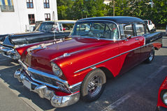 Am car meeting in halden (1956 chevrolet) Royalty Free Stock Photos