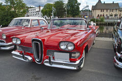 Am car meeting in halden (edsel 1958) Royalty Free Stock Photography
