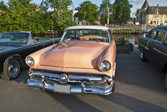 Am car meeting in halden (ford 1954) Stock Photos