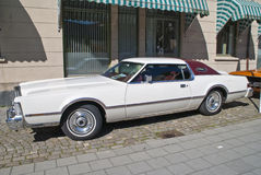 Am car meeting (lincoln continental mark IV 1976) Royalty Free Stock Images