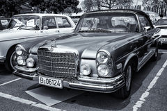 Car Mercedes-Benz 280 SE (W111) coupe (black and white, toning) Stock Photo