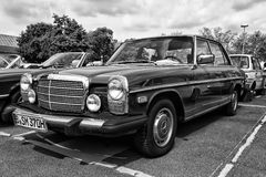 Car Mercedes-Benz W114 (black and white) Stock Image