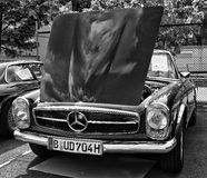 Car Mercedes-Benz W113, 280SL (black and white) Stock Image
