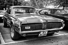 Car Mercury Cougar (black and white) Stock Photography
