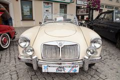 Car MG 1600, front view, retro design car. Stock Photo
