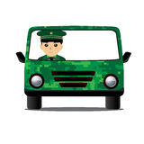 Car Military Driving Stock Photo