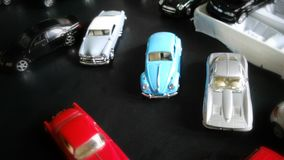 Car miniatures. Colourful collectable car miniatures toy Stock Photo