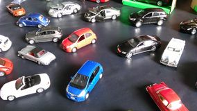 Car miniatures. Colourful collectable car miniatures toy Royalty Free Stock Photo