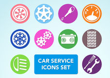 Car minimalistic icons set Royalty Free Stock Images
