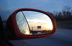 Car mirror Royalty Free Stock Photo