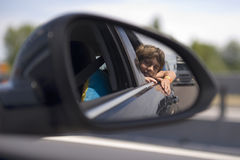 Car mirror Royalty Free Stock Images