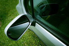Car mirror closeup Stock Photography