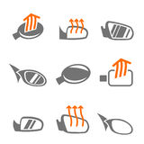 Car mirror icons Stock Image