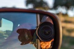 Car mirror photographer Stock Photography