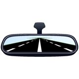 Car mirror and the road-4 Stock Image