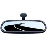 Car mirror and the road Stock Images