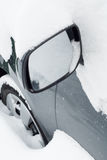 Car mirror in snow Stock Photography