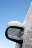 Car mirror in winter isolated Stock Photography