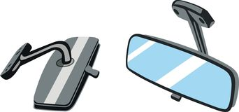Car mirrors Stock Image
