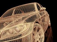 Car model on black background Stock Image