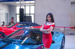 Car model and Roadster. Take on the 16th Chongqing International Motor Show, June 6th-12th, 2014. There are many international famous brand companies and Royalty Free Stock Photo