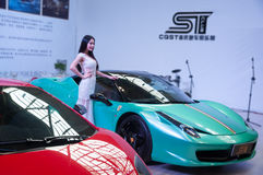 Car model and Roadster. Take on the 16th Chongqing International Motor Show, June 6th-12th, 2014. There are many international famous brand companies and Stock Photos