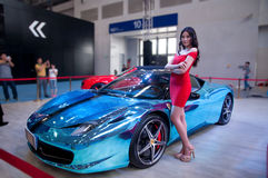 Car model and Roadster. Take on the 16th Chongqing International Motor Show, June 6th-12th, 2014. There are many international famous brand companies and Stock Image
