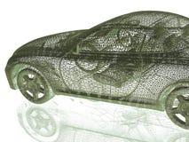 Car model on white Stock Image