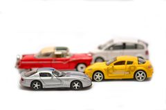 Car models, children toys, selective focus Royalty Free Stock Photos