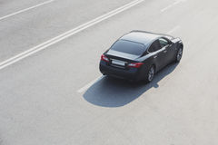 Car Modern Black On The Highway Stock Image