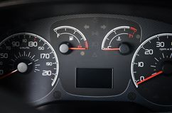 Modern car dashboard. Close up shot of the royalty free stock images
