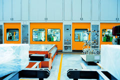 Of Car molding production line Royalty Free Stock Photos