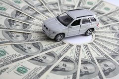 Car for money. Car for the money , business Royalty Free Stock Image