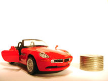 Car and the money Royalty Free Stock Photos