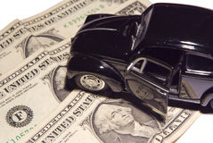 Car on the money royalty free stock photography