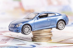 Car and money Royalty Free Stock Photography