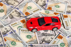 Car on money cash Royalty Free Stock Image
