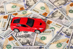 Car on money cash Stock Images
