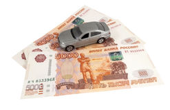 Car on money cash Royalty Free Stock Photo