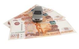 Car on money cash Royalty Free Stock Photo