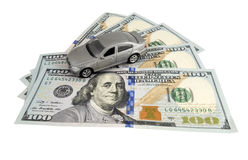 Car on money cash Royalty Free Stock Images