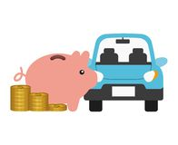 Car and money design Royalty Free Stock Photo