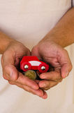Car and money in hands Stock Photos