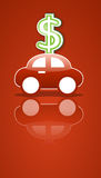 Car and money sign Stock Photo